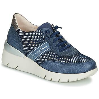 Παπούτσια Γυναίκα Χαμηλά Sneakers Hispanitas RUTH Μπλέ / Gold / Silver