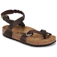 Παπούτσια Γυναίκα Σανδάλια / Πέδιλα Birkenstock YARA LEATHER Brown