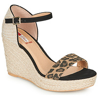 Παπούτσια Γυναίκα Σανδάλια / Πέδιλα S.Oliver NOULATI Black / Leopard