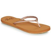 Παπούτσια Γυναίκα Σαγιονάρες Roxy COSTAS Ροζ / Gold