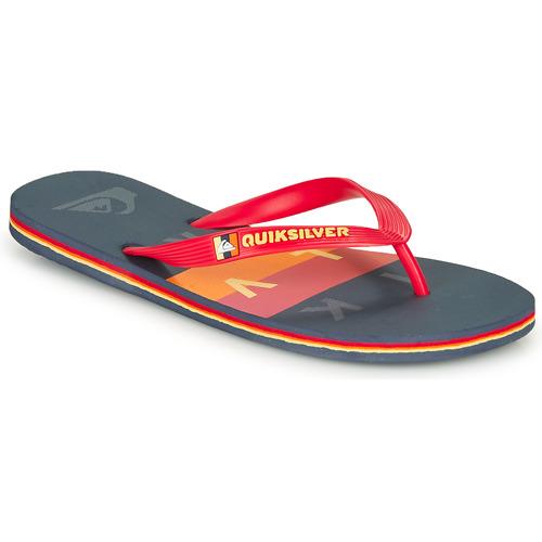 Παπούτσια Άνδρας Σαγιονάρες Quiksilver MOLOKAI WOLRDBLOCK Μπλέ / Red