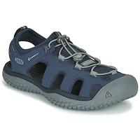 Παπούτσια Άνδρας Σπορ σανδάλια Keen SOLR SANDAL Μπλέ / Grey