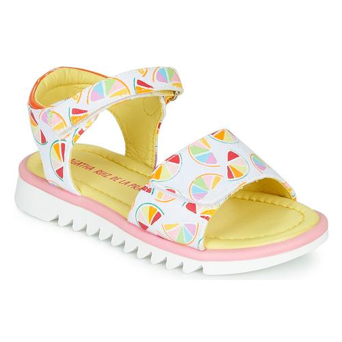 Παπούτσια Κορίτσι Σανδάλια / Πέδιλα Agatha Ruiz de la Prada SMILES Άσπρο / Multicolore