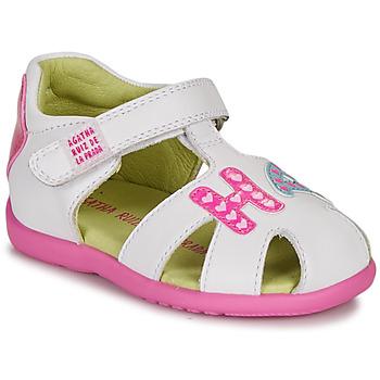 Παπούτσια Κορίτσι Σανδάλια / Πέδιλα Agatha Ruiz de la Prada HAPPY Άσπρο / Ροζ