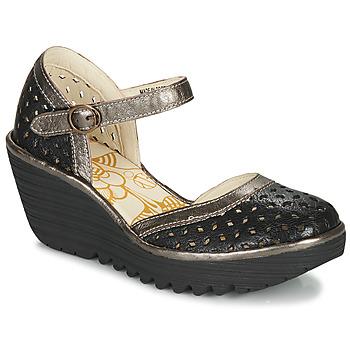 Παπούτσια Γυναίκα Γόβες Fly London YVEN Μαυρο / Bronze