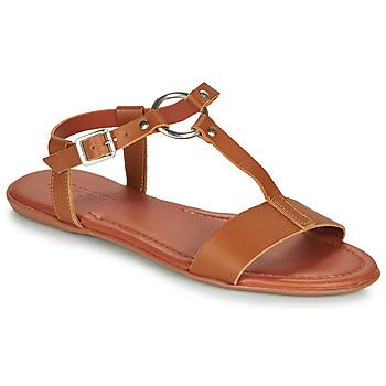 Παπούτσια Γυναίκα Σανδάλια / Πέδιλα Esprit KONA T STRAP Cognac