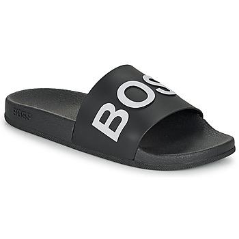 Παπούτσια Άνδρας σαγιονάρες BOSS BAY SLID RBLG Black / Άσπρο