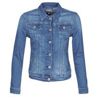 Υφασμάτινα Γυναίκα Τζιν Μπουφάν/Jacket  Pepe jeans THRIFT Μπλέ / Medium / Hb6