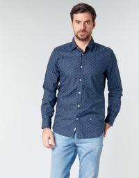 Υφασμάτινα Άνδρας Πουκάμισα με μακριά μανίκια Pepe jeans ADAN Marine