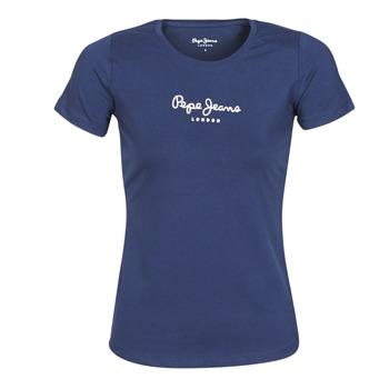 Υφασμάτινα Γυναίκα T-shirt με κοντά μανίκια Pepe jeans NEW VIRGINIA Marine