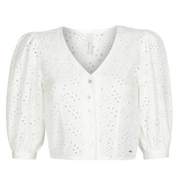 Υφασμάτινα Γυναίκα Μπλούζες Pepe jeans CLAUDIE Άσπρο