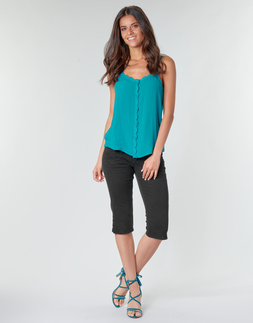 Υφασμάτινα Γυναίκα Κοντά παντελόνια Pepe jeans VENUS CROP Black