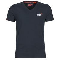 Υφασμάτινα Άνδρας T-shirt με κοντά μανίκια Superdry ORANGE LABEL VNTGE EMB VEE TEE Eclipse / Navy