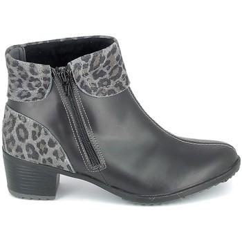Μποτίνια Boissy Boots Noir Leopard