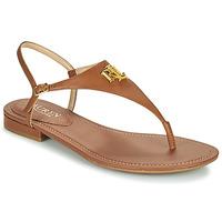 Παπούτσια Γυναίκα Σανδάλια / Πέδιλα Lauren Ralph Lauren ELLINGTON SANDALS CASUAL Cognac