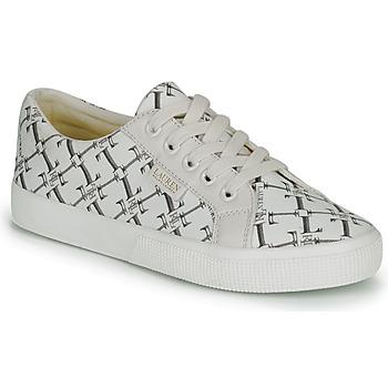 Παπούτσια Γυναίκα Χαμηλά Sneakers Lauren Ralph Lauren JAYCEE NE SNEAKERS VULC Κρεμ