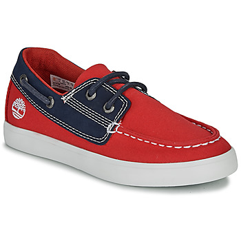 Παπούτσια Παιδί Boat shoes Timberland NEWPORT BAY BOAT SHOE TD Red / Μπλέ