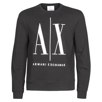 Υφασμάτινα Άνδρας Φούτερ Armani Exchange HELIX Black