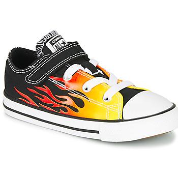 Παπούτσια Κορίτσι Χαμηλά Sneakers Converse CHUCK TAYLOR ALL STAR 1V - OX Μαυρο / Yellow