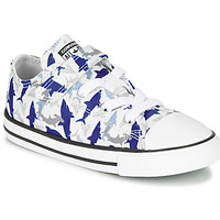 Παπούτσια Αγόρι Χαμηλά Sneakers Converse CHUCK TAYLOR ALL STAR 1V SHARK BITE - OX Mπλε / Ασπρό