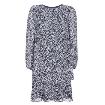 Υφασμάτινα Γυναίκα Κοντά Φορέματα Lauren Ralph Lauren Alois Marine / Άσπρο
