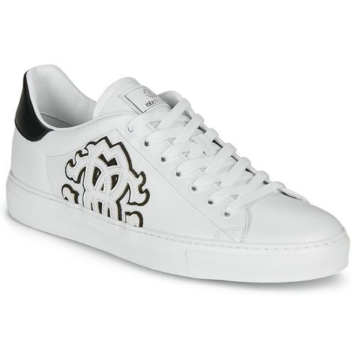 Παπούτσια Άνδρας Χαμηλά Sneakers Roberto Cavalli 1005 Άσπρο / Black