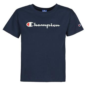 Υφασμάτινα Γυναίκα T-shirt με κοντά μανίκια Champion KOOLATE Marine