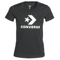 Υφασμάτινα Γυναίκα T-shirt με κοντά μανίκια Converse Star Chevron Tee Converse / Μαυρο