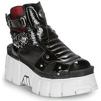 Παπούτσια Γυναίκα Σανδάλια / Πέδιλα New Rock LIYA Black / Άσπρο