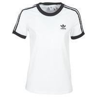 Υφασμάτινα Γυναίκα T-shirt με κοντά μανίκια adidas Originals 3 STR TEE Άσπρο