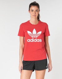 Υφασμάτινα Γυναίκα T-shirt με κοντά μανίκια adidas Originals TREFOIL TEE Red / Luxuriant