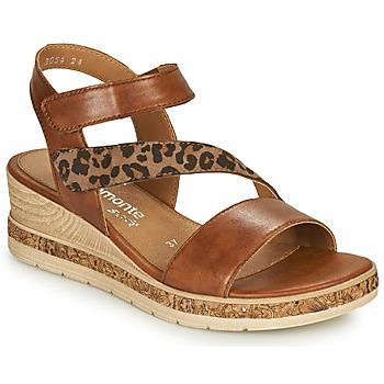 Παπούτσια Γυναίκα Σανδάλια / Πέδιλα Remonte Dorndorf HERNENDEZ Cognac / Leopard