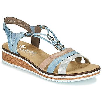 Παπούτσια Γυναίκα Σανδάλια / Πέδιλα Rieker LAKTOS Μπλέ