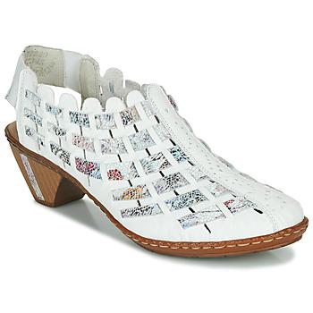 Παπούτσια Γυναίκα Χαμηλές Μπότες Rieker KANIN Άσπρο / Multicolore