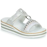 Παπούτσια Γυναίκα Τσόκαρα Rieker CLOZ Silver / Άσπρο