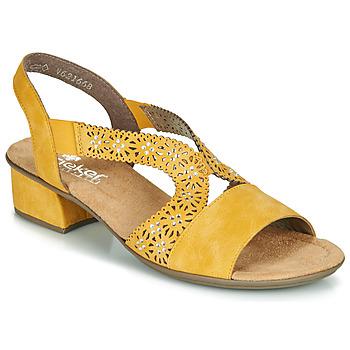 Παπούτσια Γυναίκα Σανδάλια / Πέδιλα Rieker NOUCK Yellow