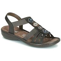 Παπούτσια Γυναίκα Σανδάλια / Πέδιλα Rieker ANOUCK Black