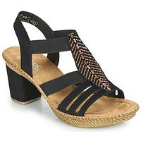 Παπούτσια Γυναίκα Σανδάλια / Πέδιλα Rieker ROOT Black
