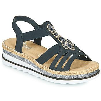 Παπούτσια Γυναίκα Σανδάλια / Πέδιλα Rieker LOUANN Black
