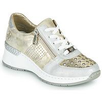 Παπούτσια Γυναίκα Χαμηλά Sneakers Rieker LEA Gold / Silver