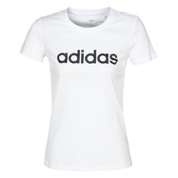 Υφασμάτινα Γυναίκα T-shirt με κοντά μανίκια adidas Performance E LIN SLIM T Άσπρο