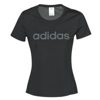 Υφασμάτινα Γυναίκα T-shirt με κοντά μανίκια adidas Performance D2M LO TEE Black