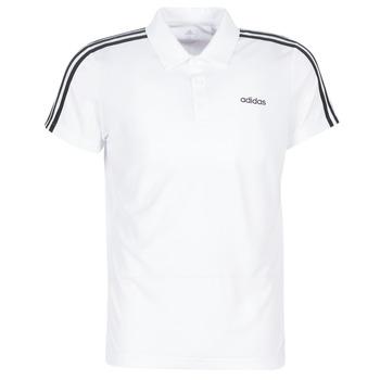 Υφασμάτινα Άνδρας Πόλο με κοντά μανίκια  adidas Performance M D2M CLA 3S PO Άσπρο