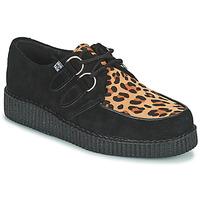 Παπούτσια Derby TUK LOW FLEX ROUND TOE CREEPER Black / Leopard