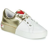 Παπούτσια Γυναίκα Χαμηλά Sneakers Love Moschino BI-COLOR SHOES Άσπρο / Gold
