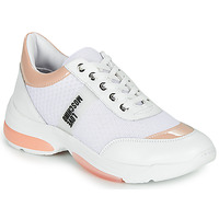 Παπούτσια Γυναίκα Χαμηλά Sneakers Love Moschino RUN LOVE Άσπρο / Ροζ