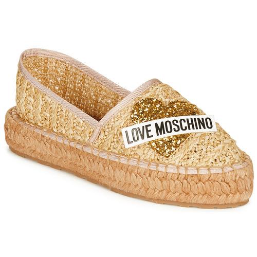 Παπούτσια Γυναίκα Εσπαντρίγια Love Moschino JA10393G0A Beige