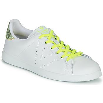 Παπούτσια Γυναίκα Χαμηλά Sneakers Victoria TENIS PIEL FLUO Άσπρο / Yellow