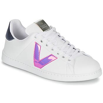 Παπούτσια Γυναίκα Χαμηλά Sneakers Victoria TENIS VINILO Άσπρο / Μπλέ