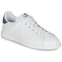 Παπούτσια Γυναίκα Χαμηλά Sneakers Victoria TENIS PIEL SERPIENTE Άσπρο / Μπλέ